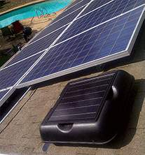 Solar Royal attic fans, solar attic fans, solar powered attic fan ventilation