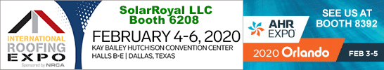 meet our solar ventilation experts at the international roofing expo and ahr expo