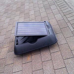 attic fans, solar attic fans, solar powered attic ventilation
