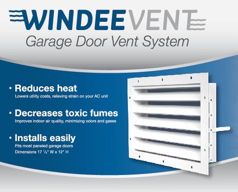 windeevent garage door ventilation system