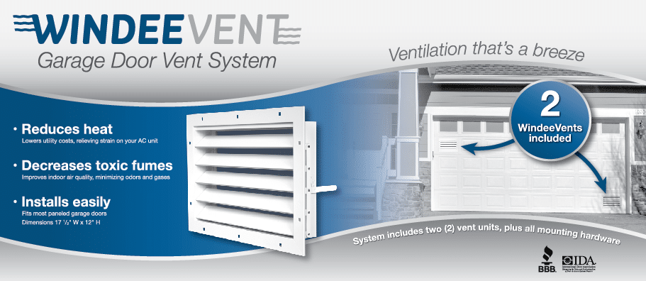 windeevent garage door ventilation system
